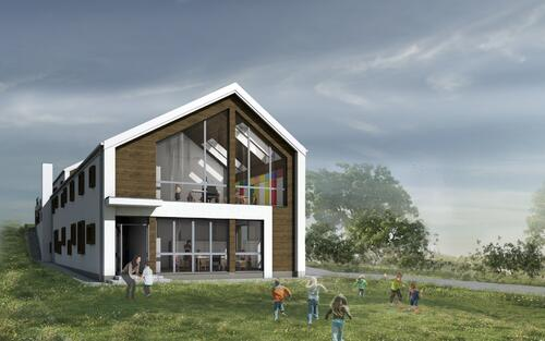 BUILDING KINDERGARTEN IN APAHIDA, Romania