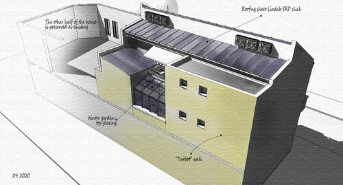 Reconstruction of part of a building in Ruse